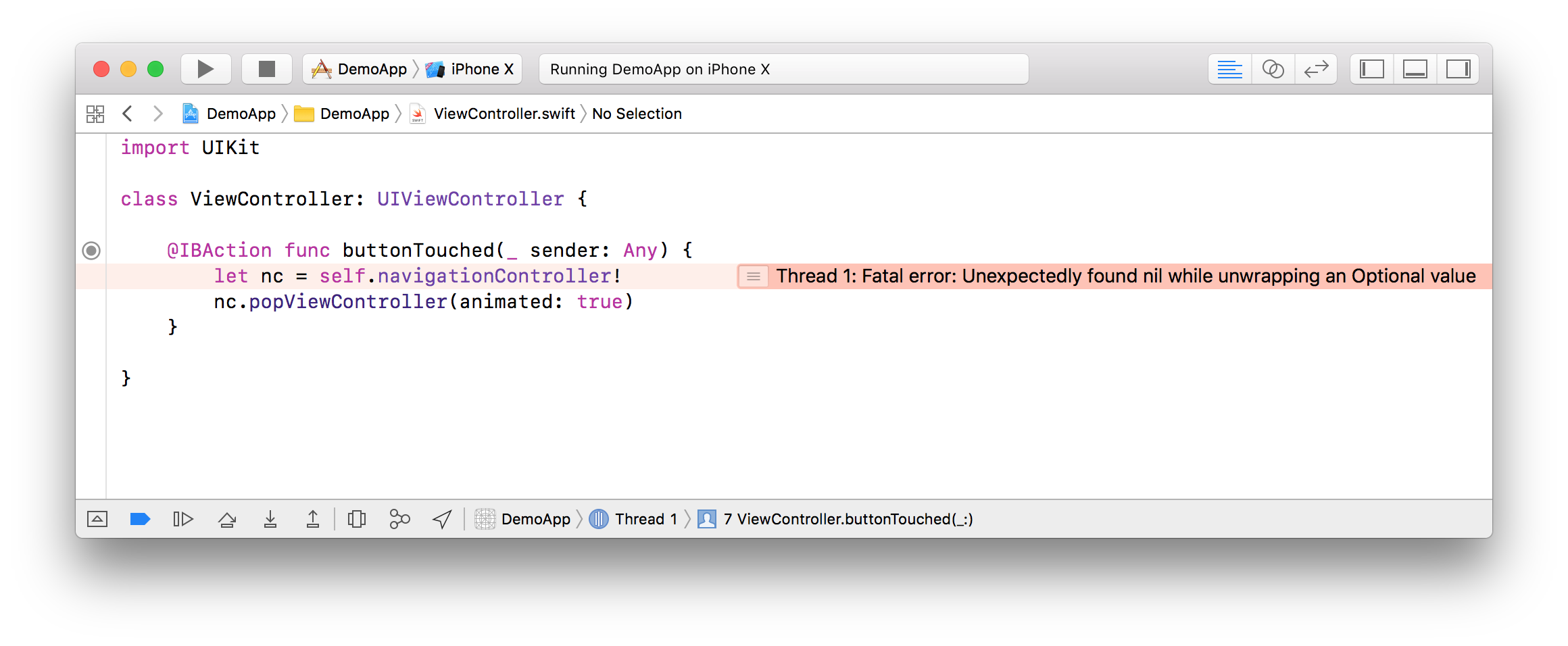Swift org - Xcode 9 1 Improves Display of Fatal Errors